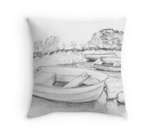 Drawing Day 2010 Dinghies Throw Pillow