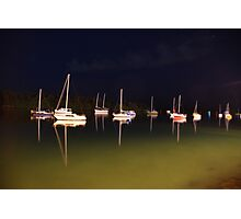 Moored under stary skies Photographic Print