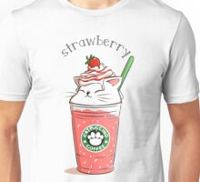 Strawberry CATpuccino Unisex T-Shirt