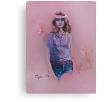 """Blue Eyes"" Oil on Canvas Canvas Print"