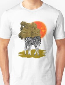 Summer Heat .. african Zebras T-Shirt