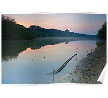 Sunrise, Barnsdale, Rutland Water. Poster