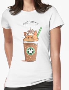 Caramel CATpuccino Womens Fitted T-Shirt
