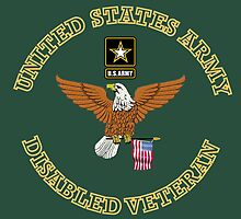 US Army Disabled Veteran Shield by henrytheartist