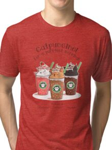 Catpuccino! For a purrfect morning! Tri-blend T-Shirt