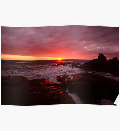 Sunset @ Corbierre - Jersey Poster