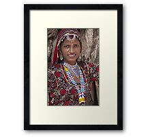 Young Tribal Lady- Rajasthan Framed Print
