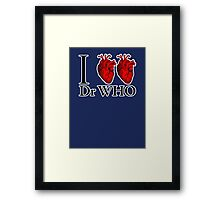 I Heart Heart Dr Who (v.2) Framed Print