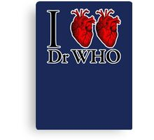 I Heart Heart Dr Who (v.2) Canvas Print