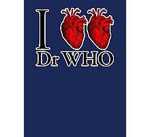 I Heart Heart Dr Who (v.2) Photographic Print