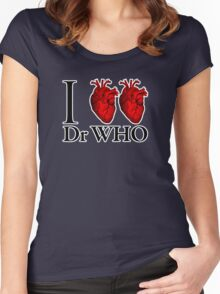 I Heart Heart Dr Who (v.2) Women's Fitted Scoop T-Shirt