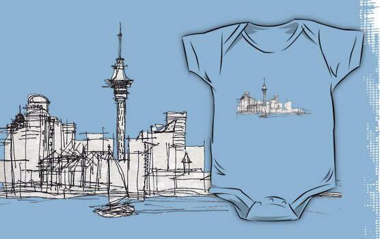 Auckland Silhouette by iskamontero