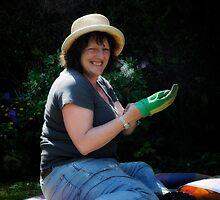 Karens In the garden (May portrait) by Karen  Betts