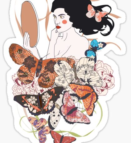 Madame butterfly Sticker