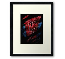 Spider Ripped Man Chest Framed Print