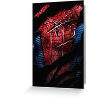Spider Ripped Man Chest Greeting Card