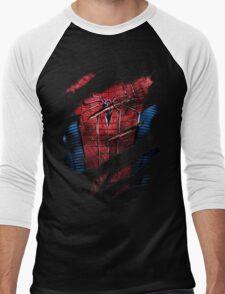 Spider Ripped Man Chest Men's Baseball ¾ T-Shirt