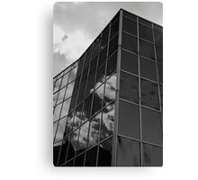 Dark Reflections,Glass Palace,BW,Sassuolo,Italy Canvas Print