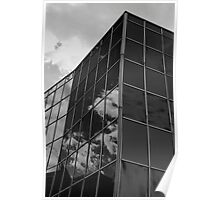 Dark Reflections,Glass Palace,BW,Sassuolo,Italy Poster
