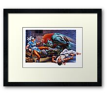 Classic Retro Street Fighter II SNES Framed Print