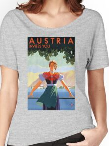Austria Vintage Travel Poster Women's Relaxed Fit T-Shirt