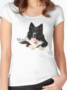Woof - Border Collie Women's Fitted Scoop T-Shirt