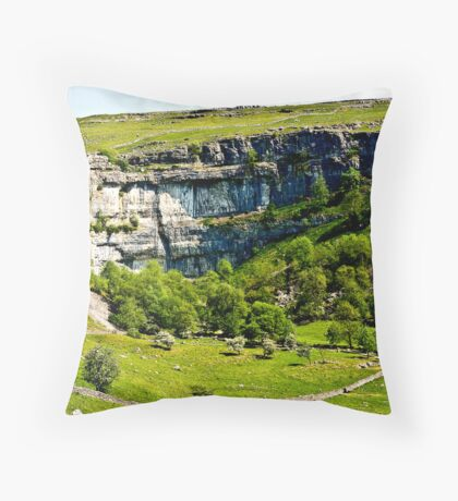 Malham Cove - Yorks Dales #1 Throw Pillow