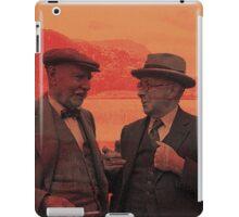 A quiet elderly conversation iPad Case/Skin