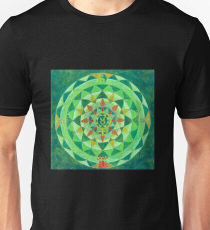Stier Horoskop Mandala Produkte Unisex T-Shirt