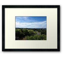 SUNSHINE COAST HINTERLAND Framed Print