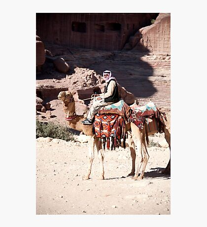 Bedouin and his camels Photographic Print