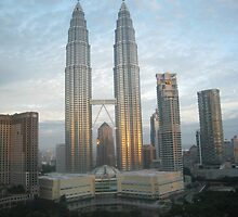 Dawn at the Petronas Towers by Mark Prior