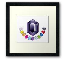 A set of Black Jewels  Framed Print
