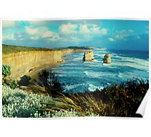 two rocks #2,Great Ocean Road,Victoria,Australia Poster
