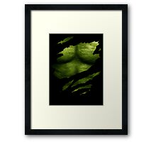 The Incredible Green Super Soldier Framed Print