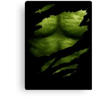 The Incredible Green Super Soldier Canvas Print