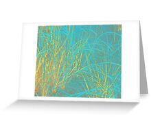 Beach Grass in Blue and Yellow Greeting Card