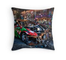 Double Parked!! Throw Pillow