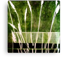 Green Monotype 1 - Printmaking Canvas Print