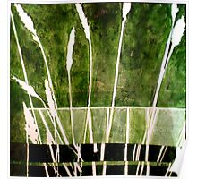 Green Monotype 1 - Printmaking Poster
