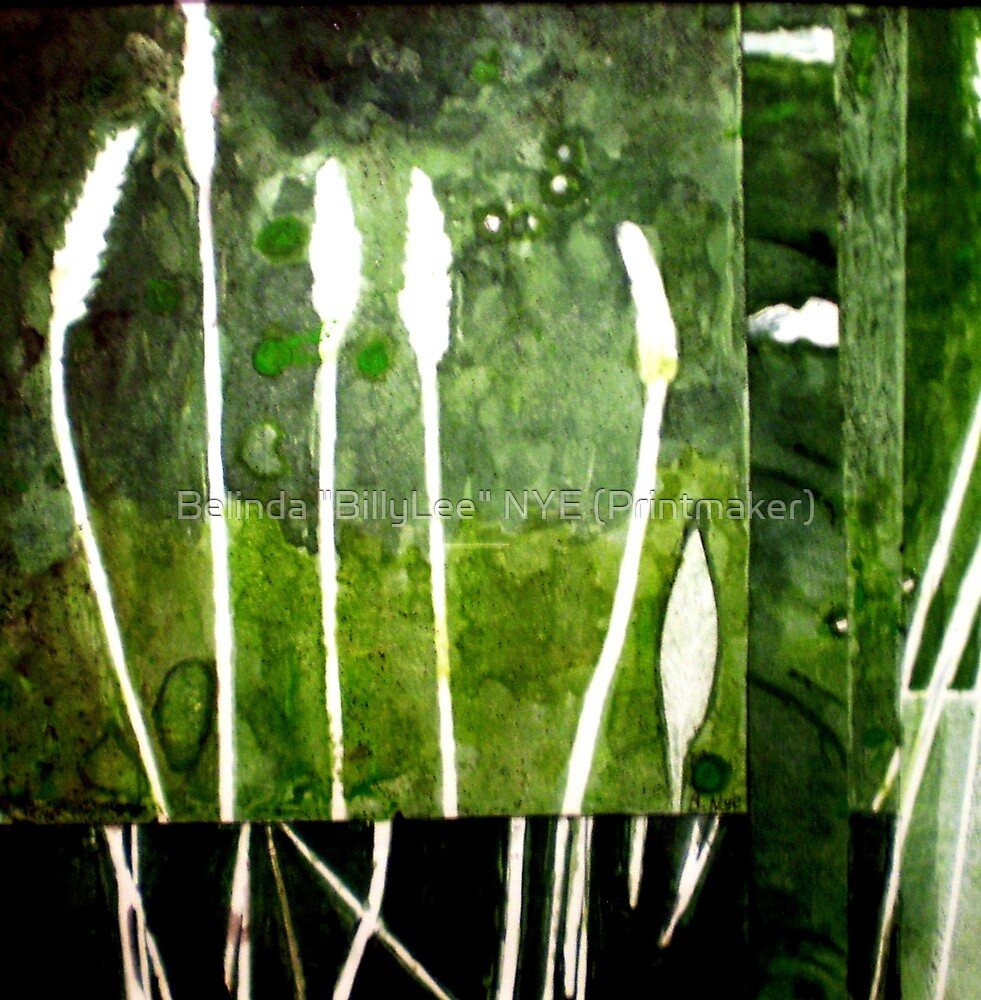 "Green Monotype 2 -Printmaking by Belinda ""BillyLee"" NYE (Printmaker)"
