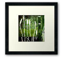 Green Monotype 2 -Printmaking Framed Print