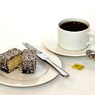 Morning tea & lamington by Scott  Dyer