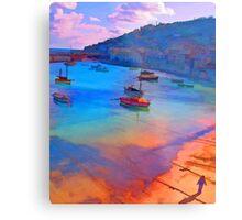 Mousehole Harbor, Cornwall - UK Metal Print