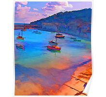 Mousehole Harbor, Cornwall - UK Poster