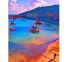 Mousehole Harbor, Cornwall - UK Photographic Print
