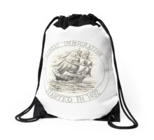 Illegal Immigration started in 1492 Drawstring Bag