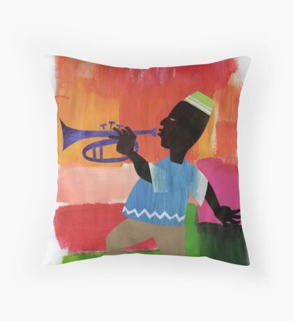 JAZZ & it's many colours. Throw Pillow