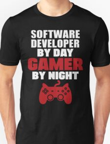 Software Developer by day gamer by night T-Shirt