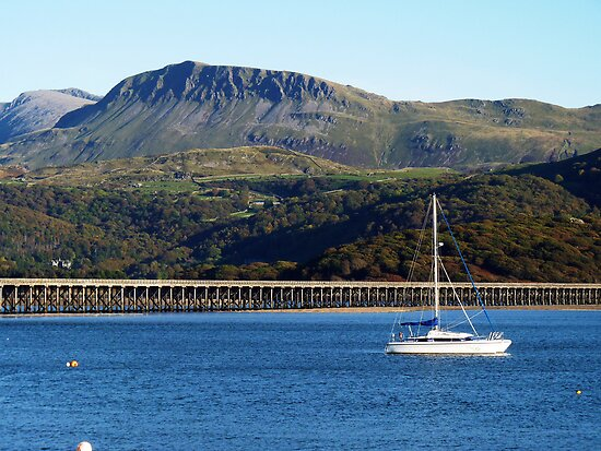 A view of Cader Idris from Barmouth, North Wales by artfulvistas